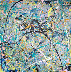 Problem Child - Large Abstract Art By Phil Connor