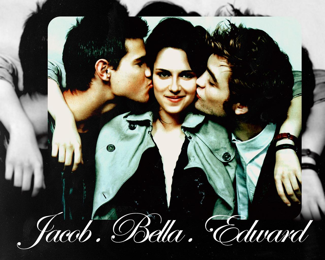 Wallpaper Jacob Bella Edward By Yunaheileen On Deviantart