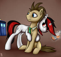Blackjack trying to enchant Doctor Whooves by Shido-Tara