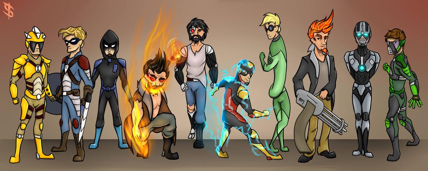 SolCOM Russian heroes (Unreleased comics project)