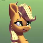 Applejack sneezes by Shido-Tara