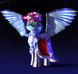 Rainbow Dash as Sombra