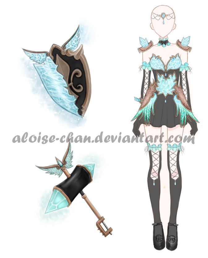 [SOLD] Ice Set Design Adoptable by Aloise-chan