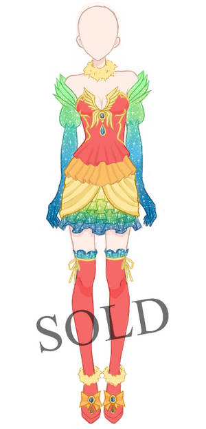 [SOLD] Parrot Outfit Adoptable by Aloise-chan