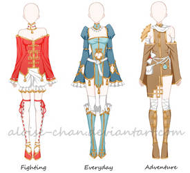 [CM] Chinese Outfit Sheet @Lucki13ear by Aloise-chan