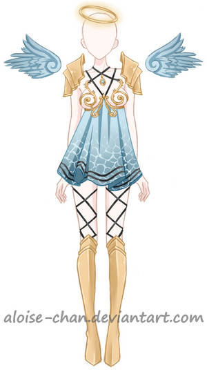 [SOLD] Water Goddess Armour Adoptable by Aloise-chan