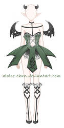 [SOLD] Succubus Outfit Adoptable by Aloise-chan