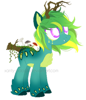 ~Adoptable~ Toxic Touch Pony 26 :CLOSED: by Xanty-Adopts