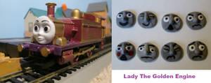 custom hornby Lady The Golden Engine