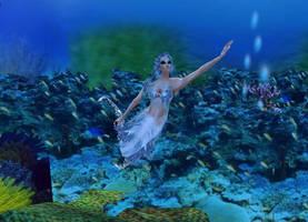 New sense bonus pic - mermaid 1 by Worldoftg