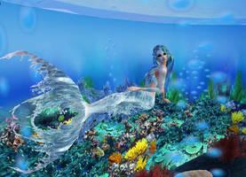 New sense bonus pic - mermaid 3 by Worldoftg