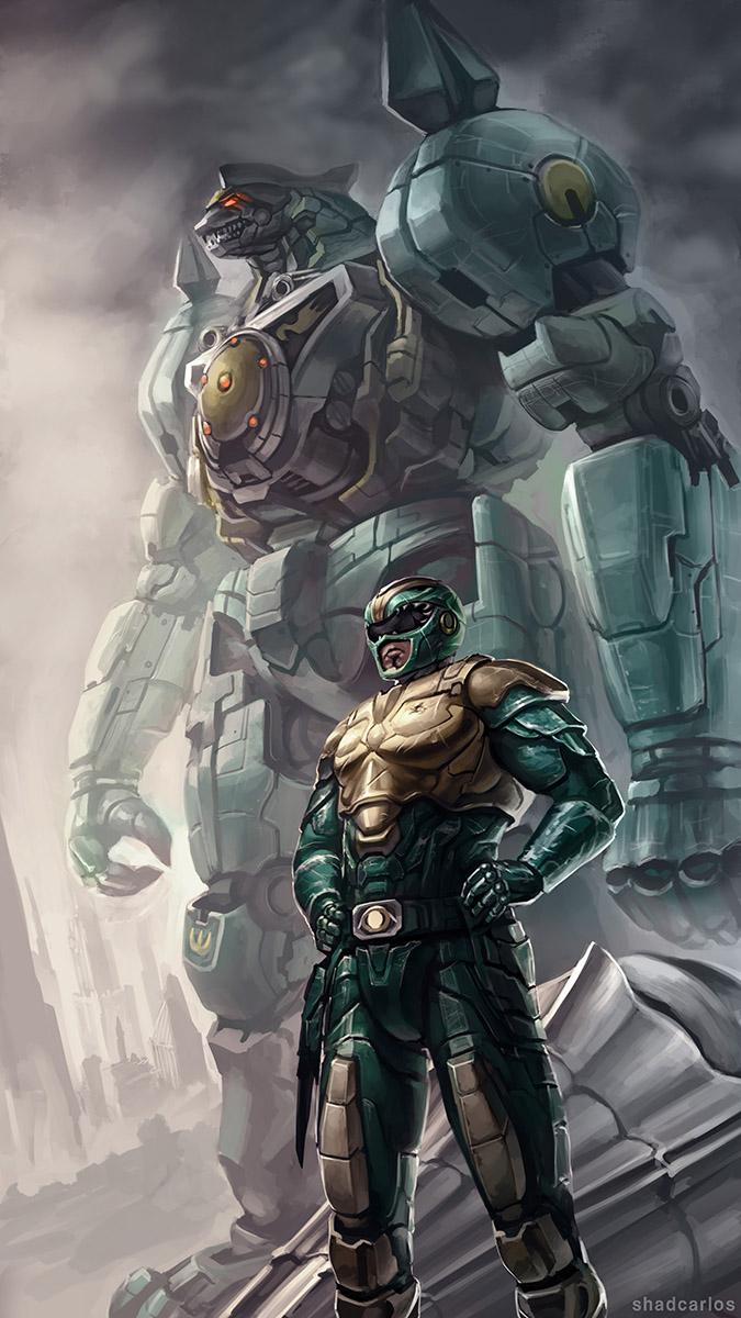 Green Ranger - Fan art by ShadCarlos