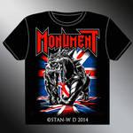 MONUMENT - T-Shirt design new album by stan-w-d