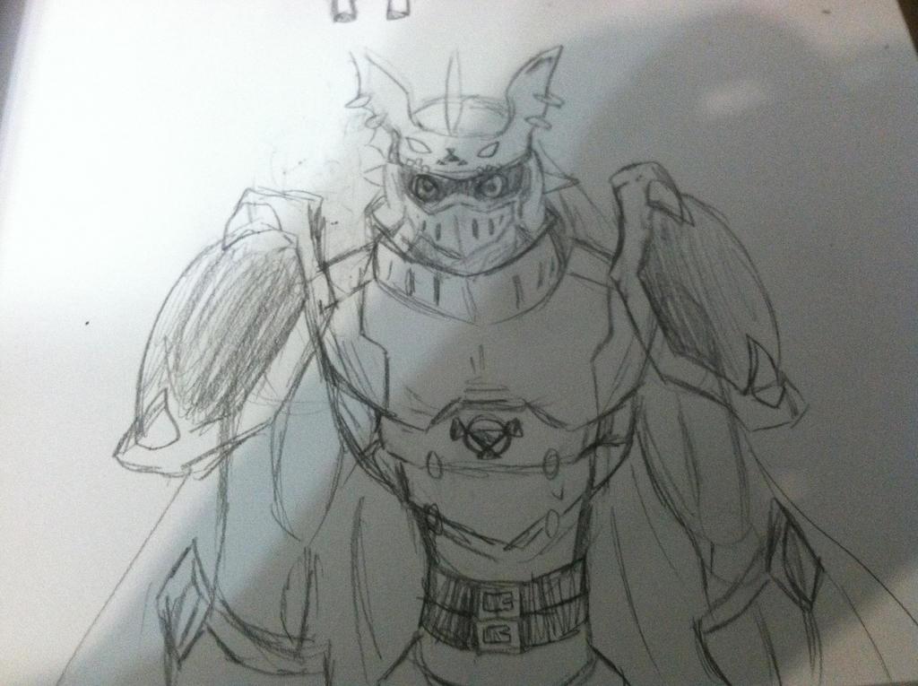 Gallantmon Sketch by Kari-chan622