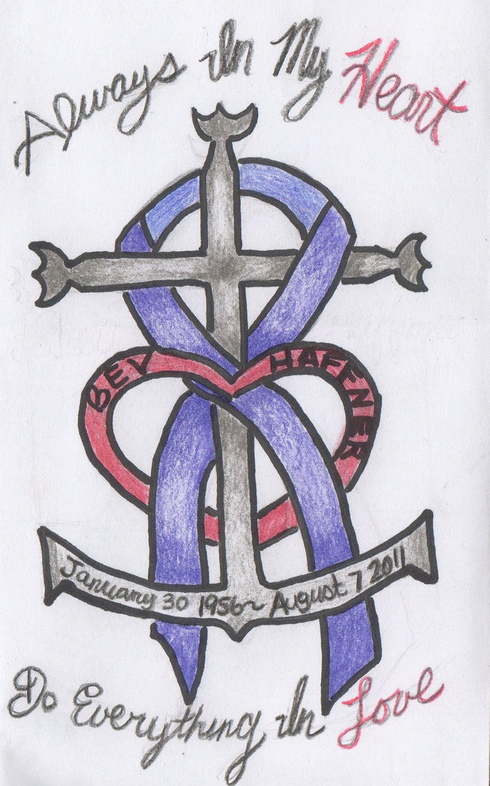 Pancreatic cancer memorial tattoo sketch by for Pancreatic cancer ribbon tattoos