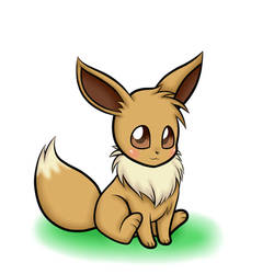 A cute and lovely Eevee!~ by MeganZX87