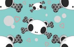 Panda Skull Background Tile by tenten427