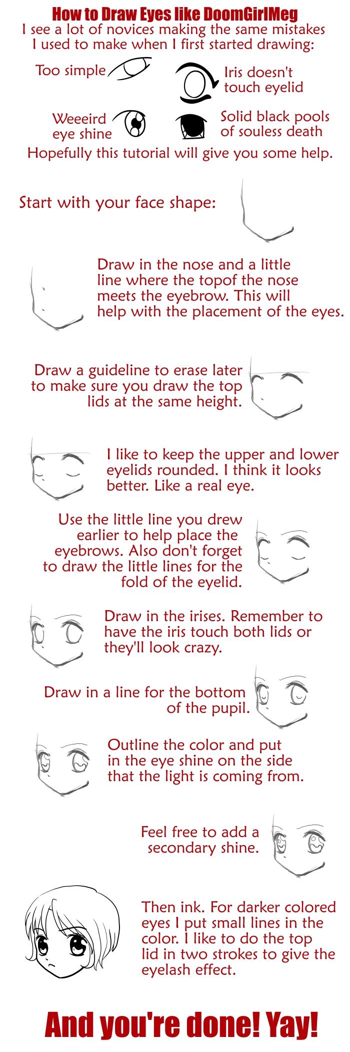 How to Draw Eyes like DGM by DoomGirlMeg