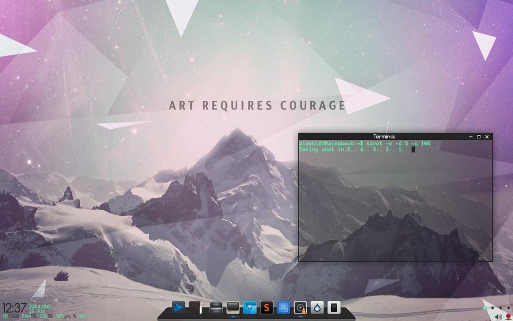 minimal desktop by alexkidd-imw