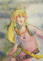 Zelda Card by Gabriela-Birchal