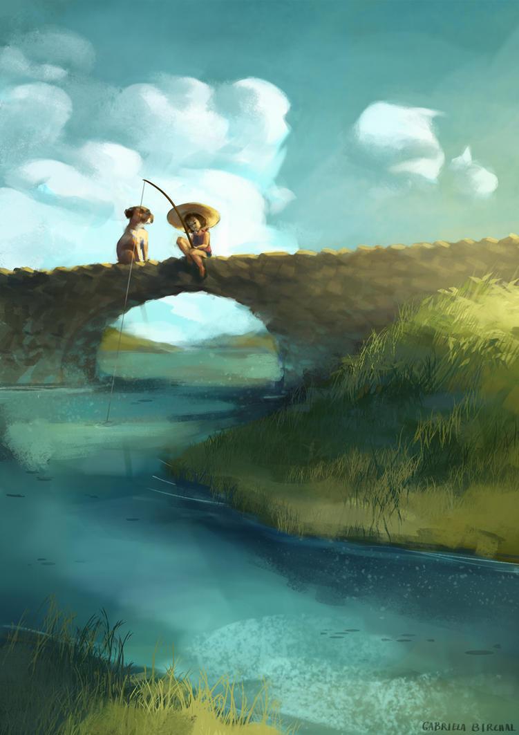 Fishing time by Gabriela-Birchal