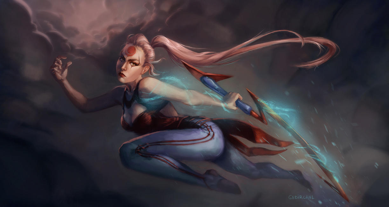 Blood Moon Diana by Gabriela-Birchal