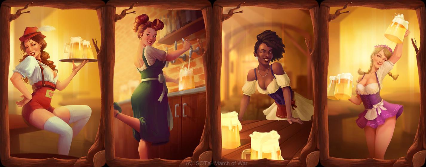 Brewfest cardbacks by Gabriela-Birchal