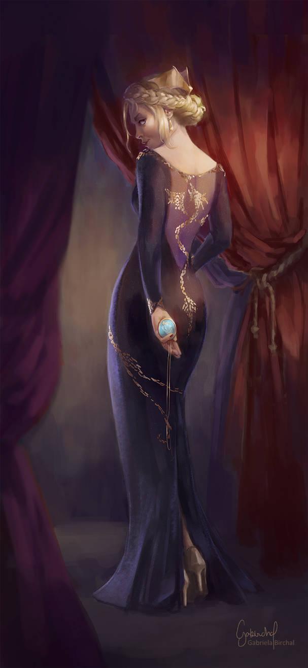 Lady in the Dragon Dress by Gabriela-Birchal
