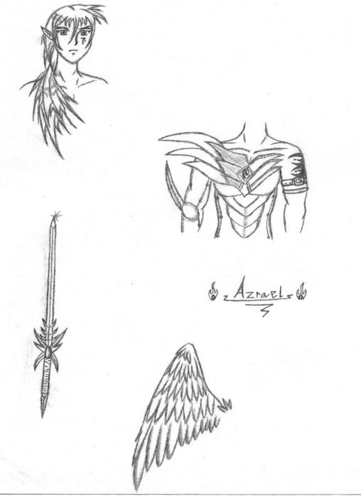 Azrael Sketches by sindra