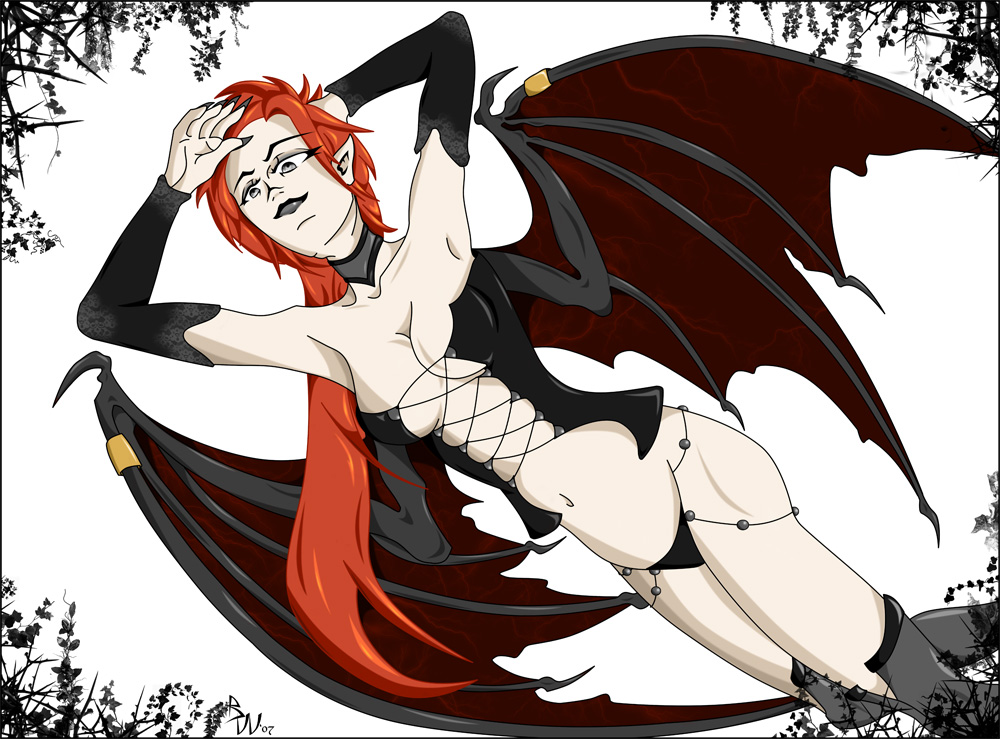 Death Flower Succubus by sindra