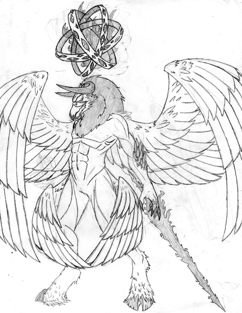 Cherubim and Ophanim by Thylanos
