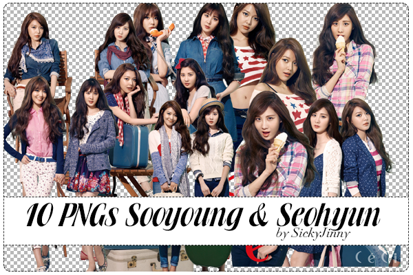 Pack 10 PNGs Sooyoung and Seohyun by SickyJinny