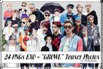 Pack 24 PNGs EXO