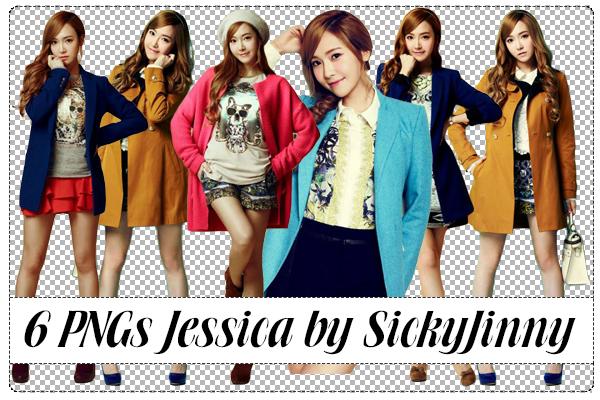 Pack 6 PNGs Jessica by SickyJinny