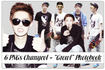 Pack 6 PNGs Chanyeol