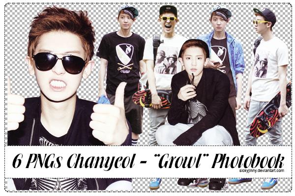 Pack 6 PNGs Chanyeol by SickyJinny