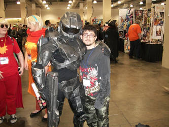 Anime Boston 2014: Female Master Chief and I again by williedude