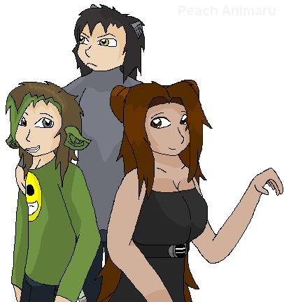 Peach, Bo-bo, and Grump by TLK-Peachii