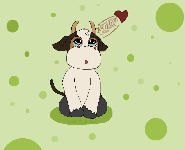 The Chibi cow, Caramel by TLK-Peachii