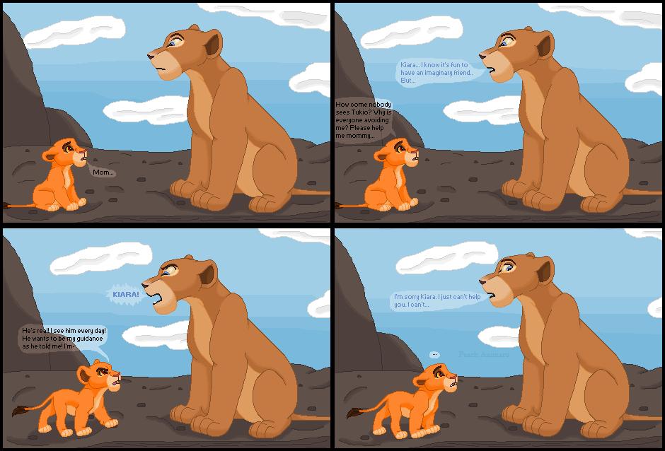 Kiara asks Nala for help by TLK-Peachii