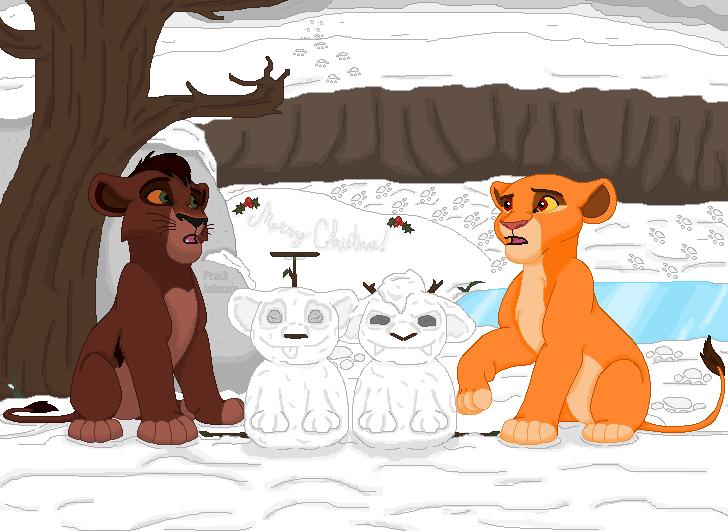 Kiara and Kovu's Snowcubs by TLK-Peachii
