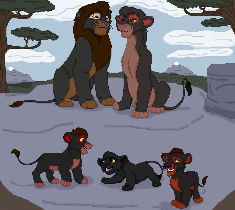Adimu and Edmund's cubs by TLK-Peachii