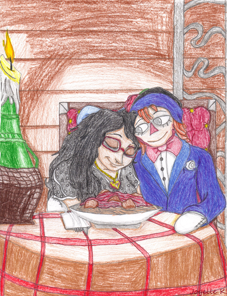 .On a date. by TLK-Peachii