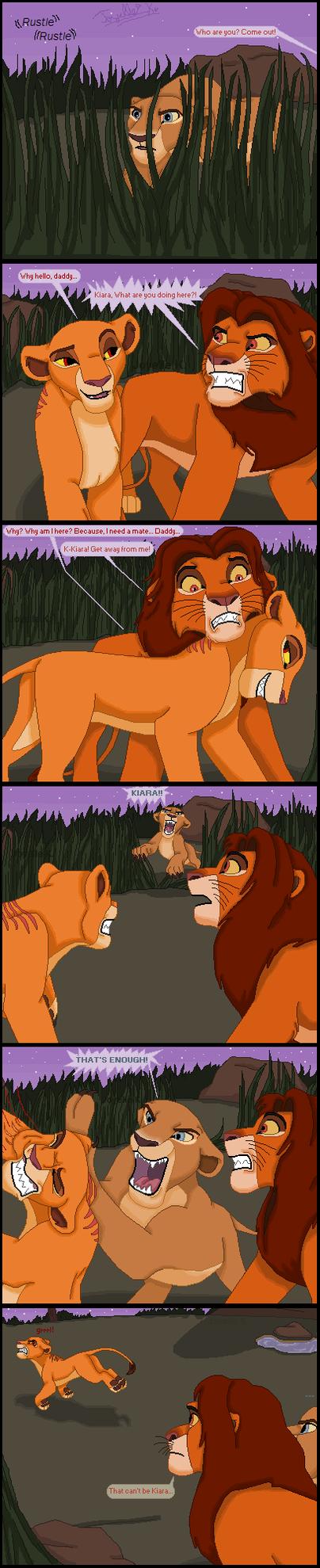 Kiara encounters Simba by TLK-Peachii