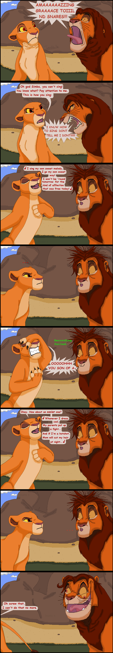 Simba tries singing by TLK-Peachii