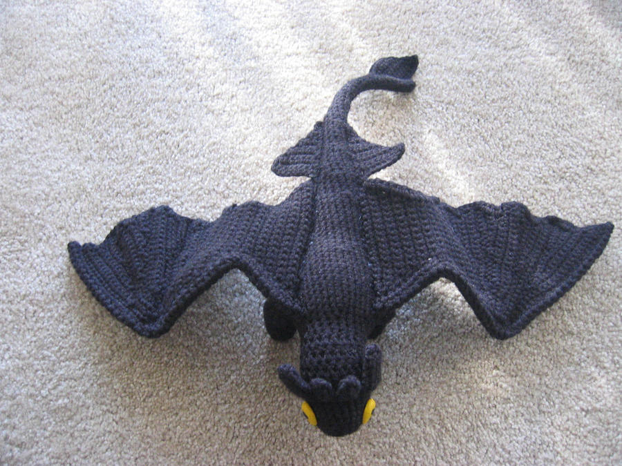Amigurumi Toothless : Toothless top view by atruyis on deviantart