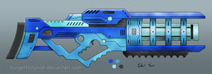 Scifi Particle Beam Cannon