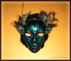Peacock Lady Mask by MoonlightMysteria