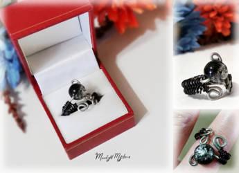 Black Mystic Night (Ring) by MoonlightMysteria