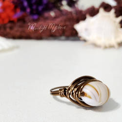 Sandy Autumn Wire Wrapped Ring
